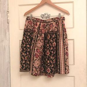 Betsy Johnson Pinup Floral Circle Skirt Size S/M